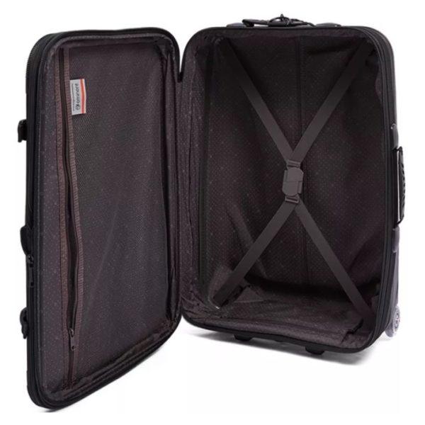 Eminent Semi Hard Eva Cabin Trolley Luggage Bag Black 20inch - AL0420BLK