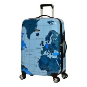 6d5c5e50c9a7 Eminent Map Spinner Trolley Luggage Bag Blue 20inch - KF3220BLU