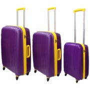 Highflyer THKELVIN3PC Kelvin Trolley Luggage Bag Purple/Yellow 3pc Set