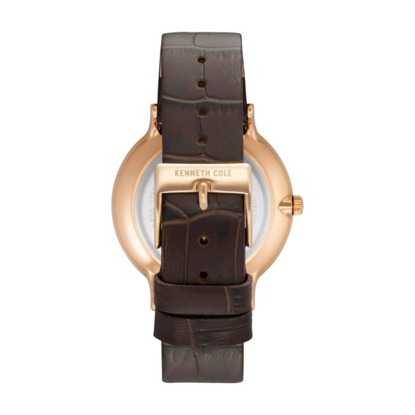 Kenneth Cole Classic Watch For Men with Brown Leather Strap