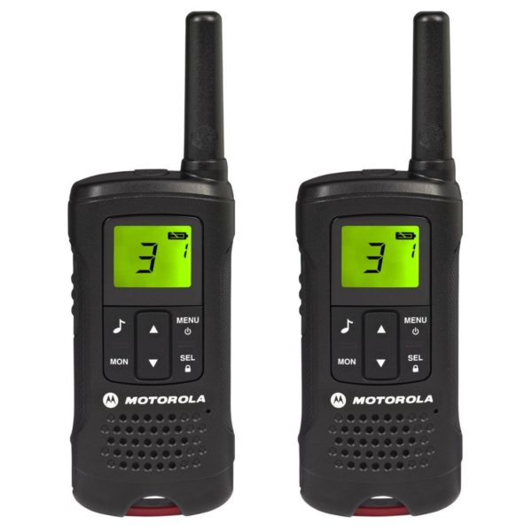 Motorola TLKRT60 P14MAB03A1AV Walkie Talkie Black Twin Pack & Charger