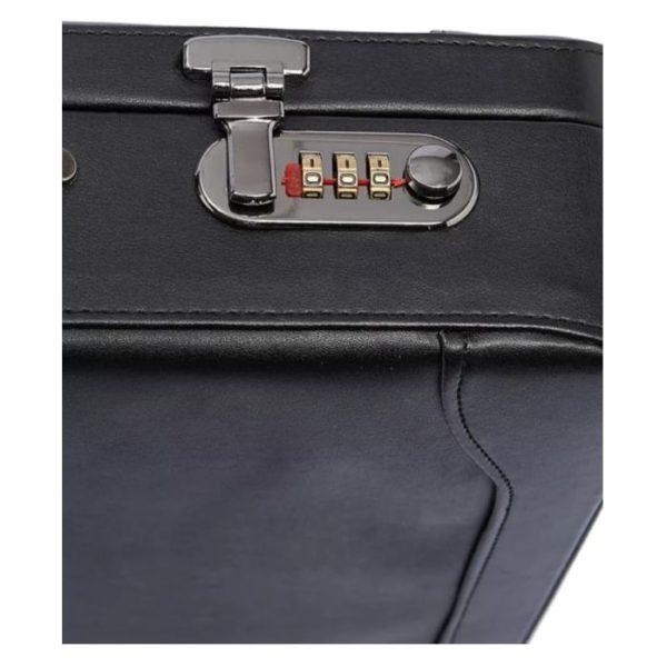 Senator PU Attache Case Black 18inch KH-8018-18
