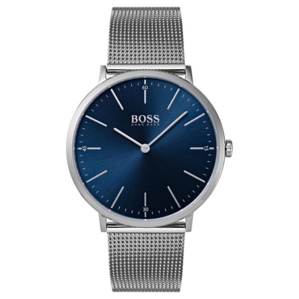 Hugo Boss Horizon Watch For Men with Silver Mesh Bracelet