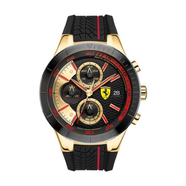 Scuderia Ferrari REDREV Watch For Men with Black Rubber Strap