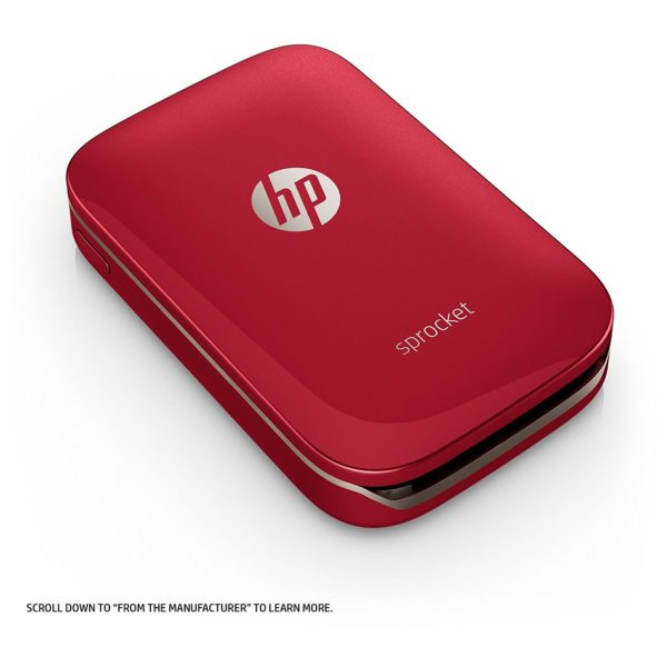 HP Sprocket Bluetooth Photo Printer Red