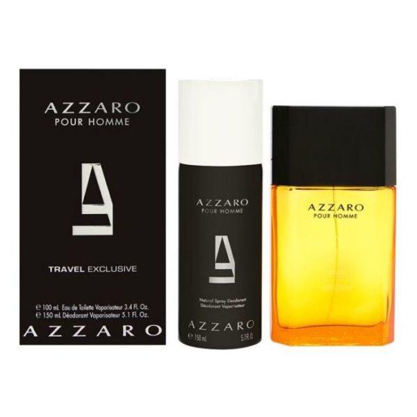Azzaro Pour Homme Travel Gift Set For Men (Azzaro Pour Homme 100ml EDT + Deodorant Spray 150 ml)