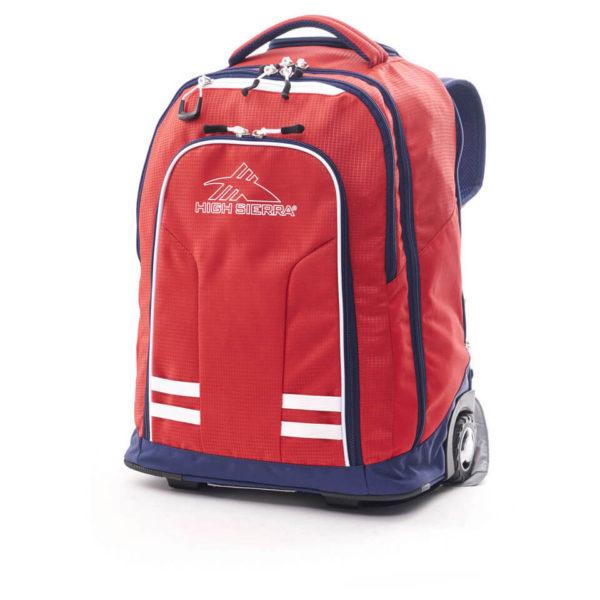 High Sierra 66IAV004 Blaise Trolley Backpack Crimson/True Navy/White