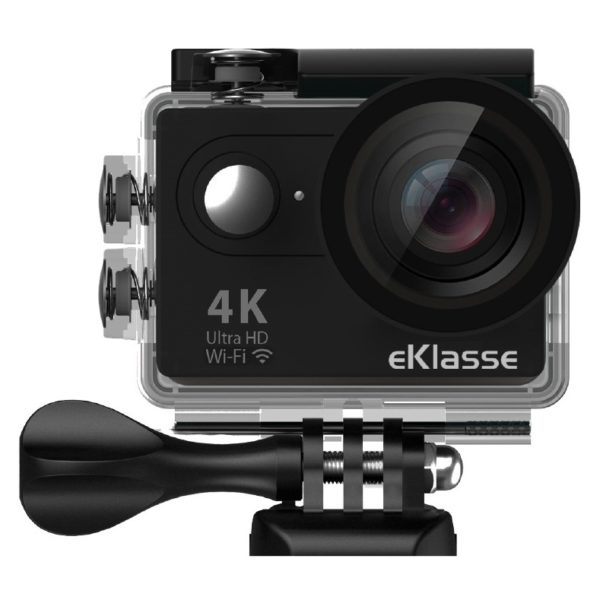 Eklasse 4K Action Camera With WiFi & Live Streaming Black – EKAC02EG