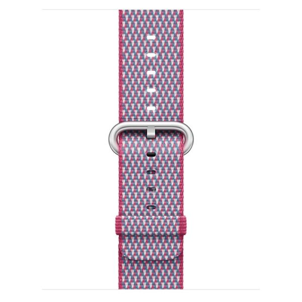 Apple Woven Nylon Band 42mm Berry Check - MQVN2ZM/A