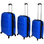Highflyer Bella Trolley Luggage Bag Blue 3pc Set THBELLA3PC
