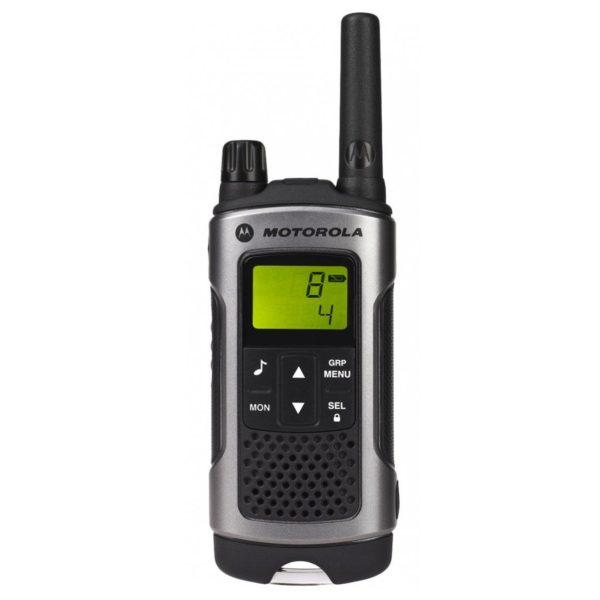 Motorola TLKRT80 P14MAB03A1AW Walkie Talkie Grey Twin Pack & Charger
