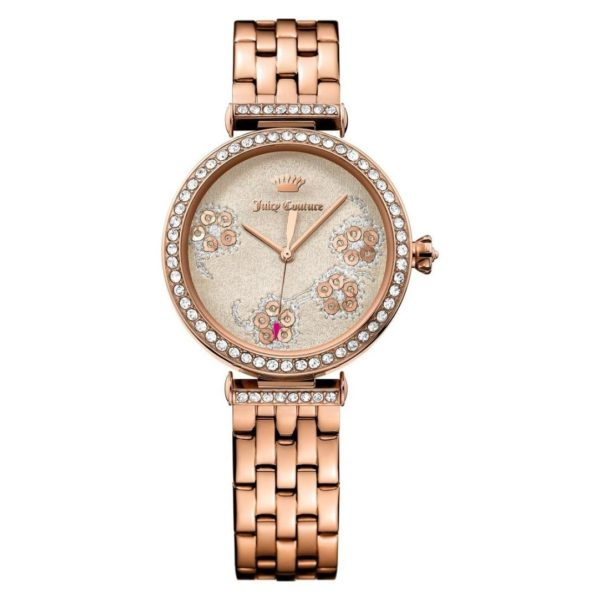 Juicy Couture Watch For Women with Rose Gold Bracelet