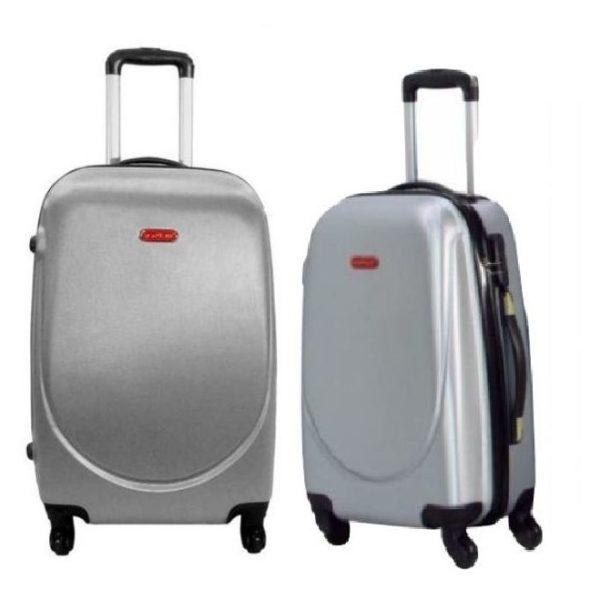 Highflyer Curve Series Trolley Luggage Bag Grey 3pc Set TH10103PC