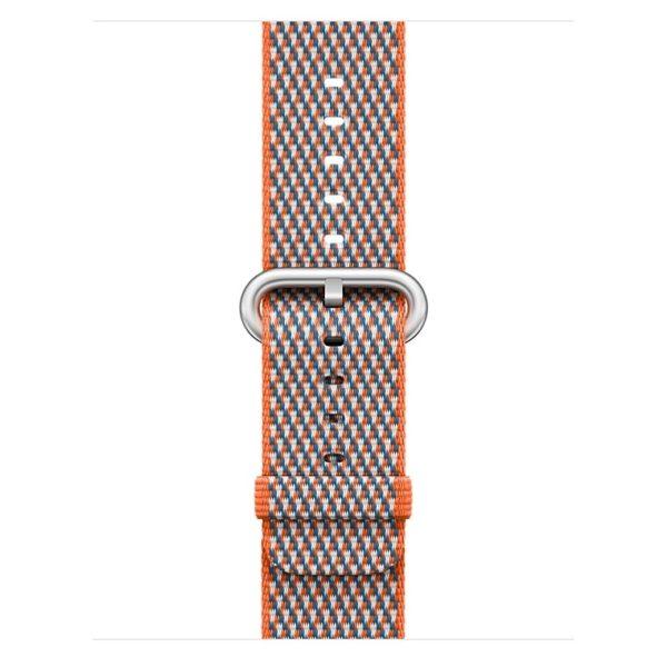 Apple Woven Nylon Band 38mm Spicy Orange Check - MQVE2ZM/A