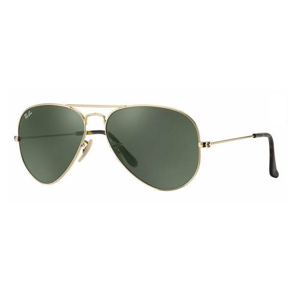 Ray Ban Unisex Sunglasses Green Classic G15gold Frame Rb34470001