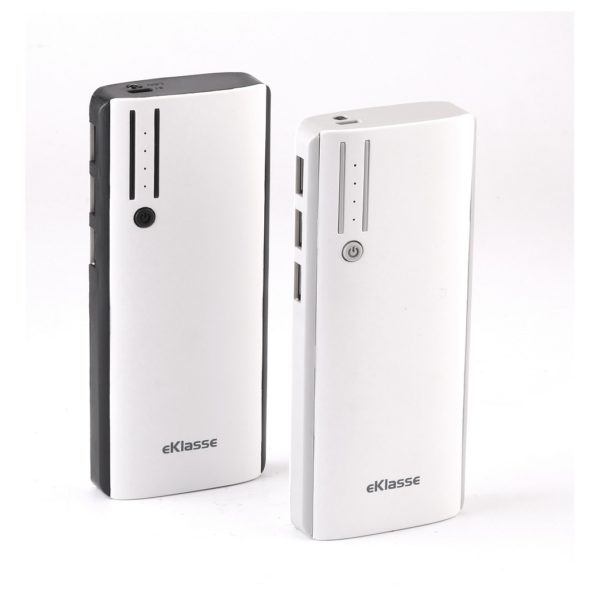 Eklasse EKPB10022BKT 5V/1A 3 USB Power Bank 10000mAh White/Black + EKPB10022BKT 5V/1A 3 USB Power Bank 10000mAh White/Grey