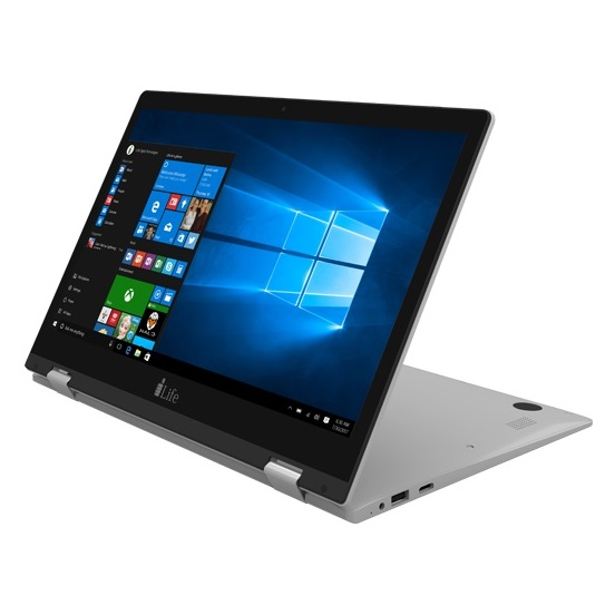 i-Life ZedNote II S Convertible Touch Laptop - Atom 1.8GHz 2GB 32GB Shared Win10 13.3inch FHD Silver
