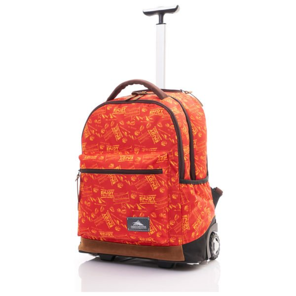 High Sierra Icon Slim Trolley Backpack Red Print 16IH1019