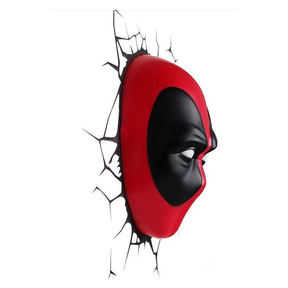 3DLightFX Deadpool Mask 3D Decor Wall Light 20023