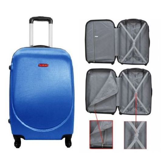 Highflyer Curve Series Trolley Luggage Bag Blue 3pc Set TH10103PC