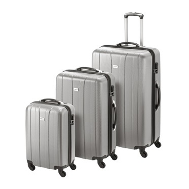 Princess Travellers CUBA Luggage Trolley Bag Silver Set Of 3