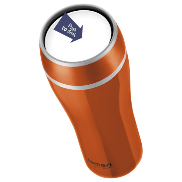 Lamart Flac Thermo Mug 0.4Ltrs Orange LT4026