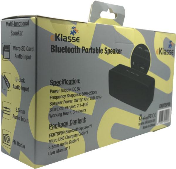 Eklasse EKBTSP09 V2.1 Bluetooth Stereo Speaker Black