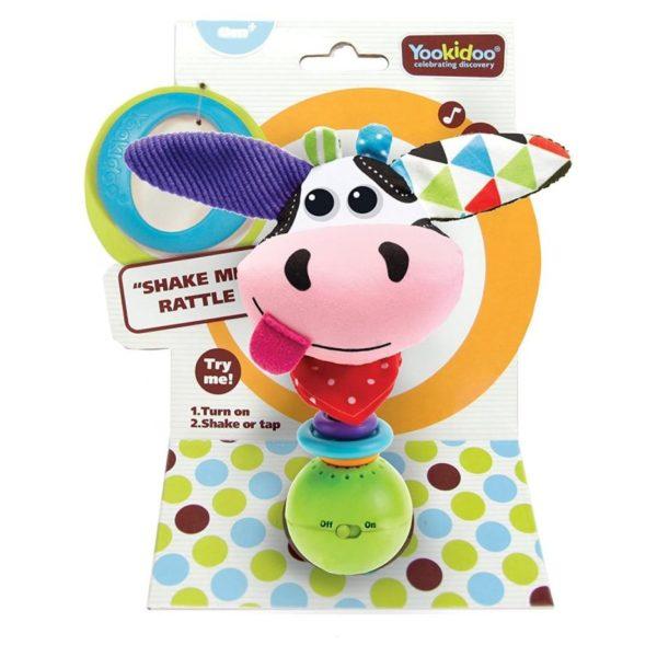 Yookidoo 40132 Cow Shake Me Rattle Toy