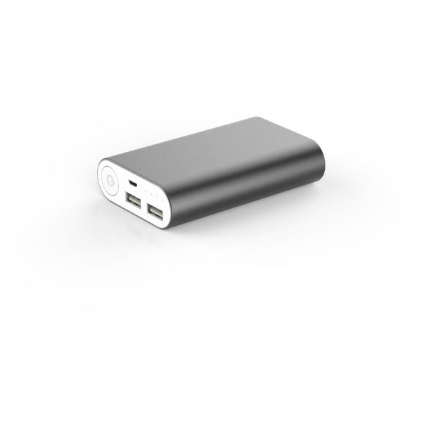 We Power Bank 10000mAh 2 USB 2.1A + 1A  Compact Anthracite Grey