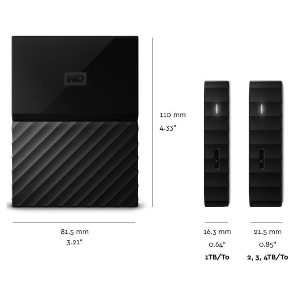 Western Digital My Passport For Mac Portable External Hard Drive USB 3.0 2TB Black WDBP6A0020BBKWESN