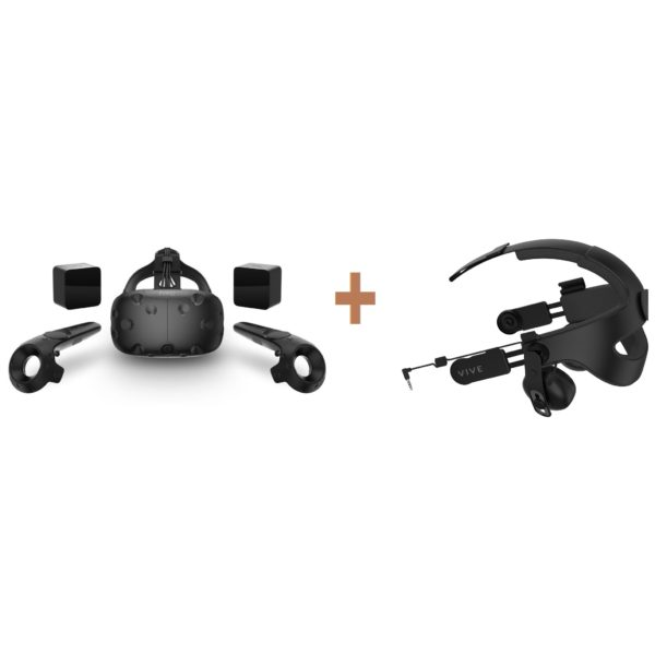 HTC 99HALN00300 Vive Eco Virtual Reality Headset Black + 99HAMR00200 Audio Strap