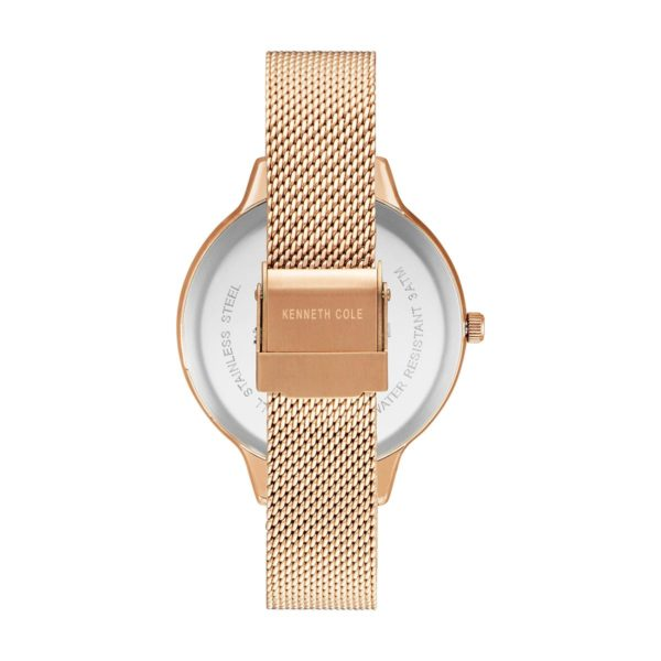 Kenneth Cole Classic Watch For Women with Rose Gold Stainless Steel Bracelet