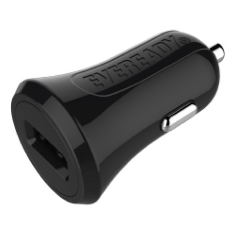 Eveready Car Charger With Micro USB Cable 1m Black - 1BEMC3