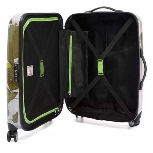Eminent Map Spinner Trolley Luggage Bag Grey 24inch - KF3224GRY