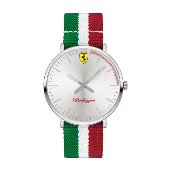 Scuderia Ferrari UTLEG Watch For Men with Red White And Green Nylon Strap