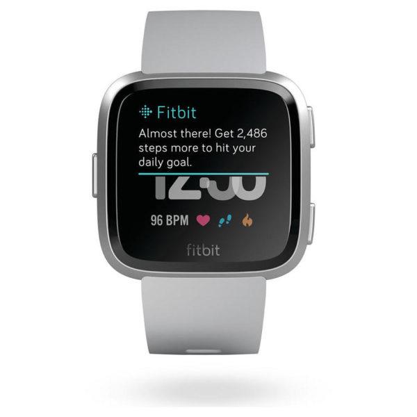 Fitbit Versa Fitness Watch Grey/Silver Aluminum - FB505SRGYEU