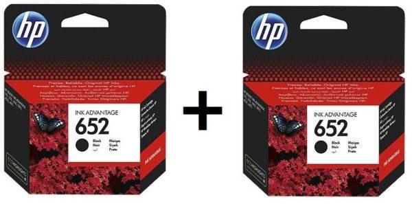 HP 652 Ink Cartridge Black F6V25AE + HP 652 Ink Cartridge Tricolor F6V24AE