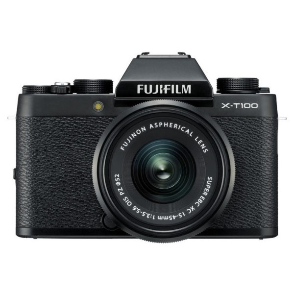 Fujifilm X-T100 Mirrorless Digital Camera Black With XC 15-45mm f/3.5-5.6 OIS PZ Lens
