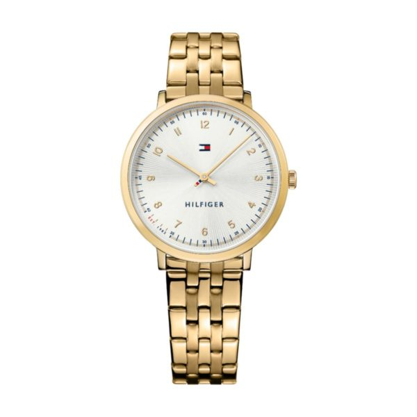 Tommy Hilfiger ULSMB Watch For Women with Gold Steel Bracelet