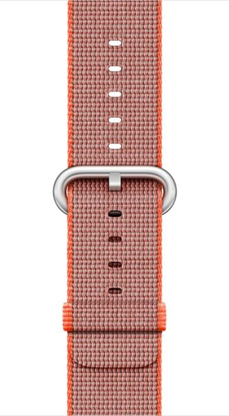 Apple MNK52ZM/A Band 38mm Space Orange/Anthracite Woven Nylon