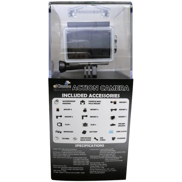Eklasse EKAC01EG 4K Action Camera With Wi-Fi Black