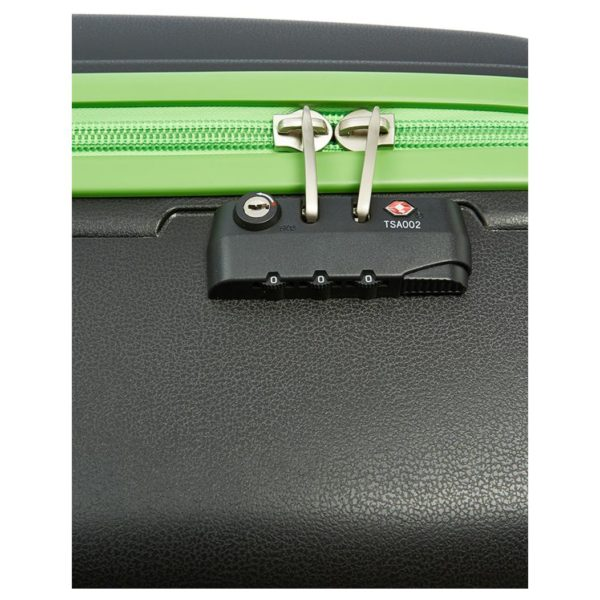 Senator PPB26BLK PP Spinner Trolley Luggage Bag Black 26inch