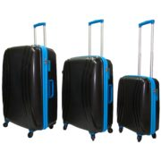 Highflyer THKELVIN3PC Kelvin Trolley Luggage Bag Black/Blue 3pc Set