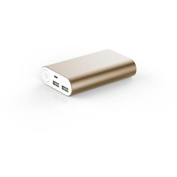We WEBATT10000COMPO Power Bank 10000mAh 2 USB 2.1A + 1A Compact Gold