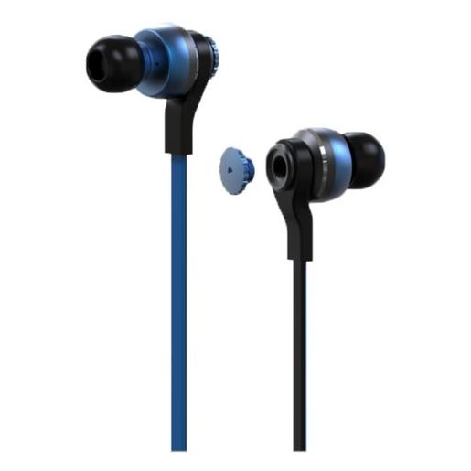 Nushh Dual Driver In Ear Headset With Mic Blue