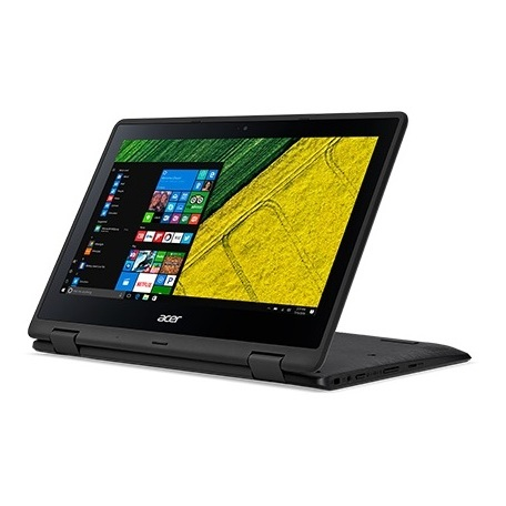 Acer Spin 1 SP111 Convertible Touch Laptop - Celeron 1.10GHz 4GB 500GB Shared Win10 11.6inch HD Black