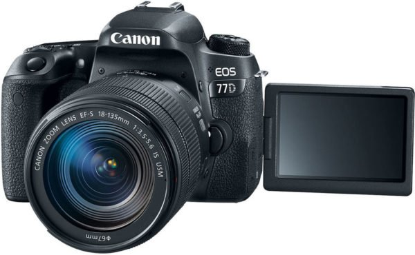 Canon EOS 77D DSLR Camera Black With EFS 18-135mm IS USM Lens