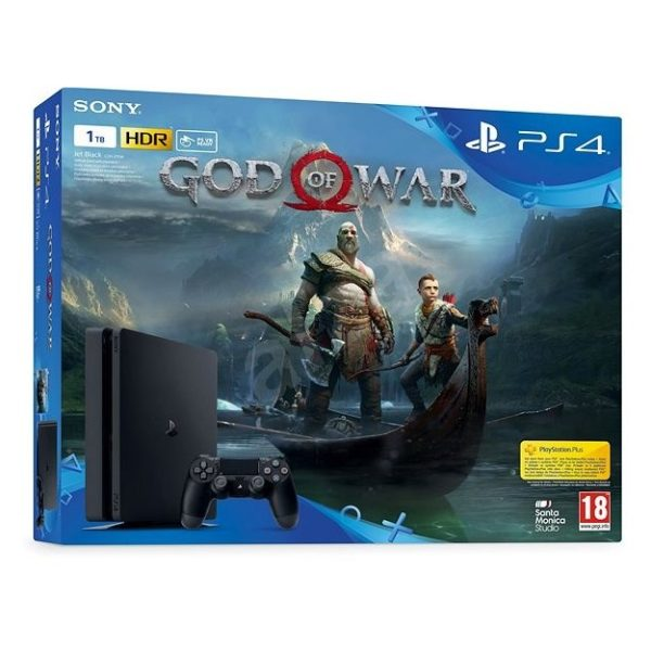 Sony PS4 Slim Gaming Console 1TB Black + God Of War Day One Edition Game