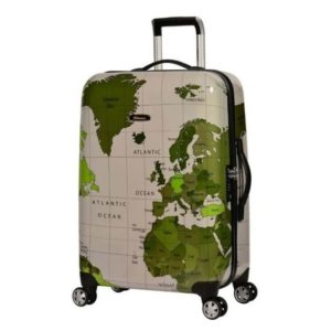 5763606d7f0d Eminent Map Spinner Trolley Luggage Bag Grey 20inch - KF3220GRY