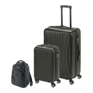 8096a9c67 Princess Travellers LASVEGAS Luggage Trolley Bag With Built in Scale Black  Set Of 3